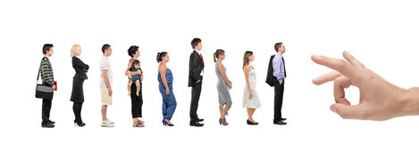 Full length portrait of men and women Stock Photography