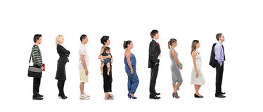 Full length portrait of men and women standing Royalty Free Stock Photography