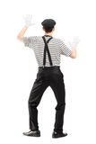Full length portrait of a mime artist performing Royalty Free Stock Images