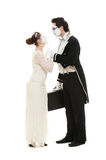 Full length portrait of mimes Royalty Free Stock Images