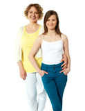 Full length portrait of mum and daughter Stock Photography