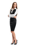 Full Length Portrait Of A Happy Business Woman Royalty Free Stock Image