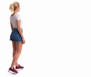 Full Length Portrait Of Beautiful Blonde Royalty Free Stock Photography