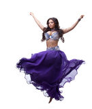 Oriental dancer in purple costume Royalty Free Stock Photography