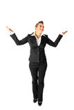Full length portrait of pleased business woman Royalty Free Stock Photo