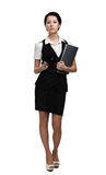 Full length portrait of pretty businesswoman Stock Photography