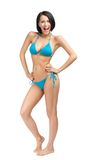 Full-length portrait of pretty female wearing bikini Royalty Free Stock Photography