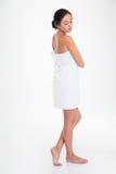 Full length portrait of pretty girl in towel Stock Photo