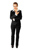 Full length portrait of reasoning business woman Royalty Free Stock Photos