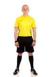 Full length portrait of a referee. Stock Image