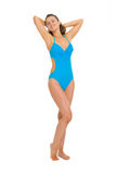 Full length portrait of relaxed woman in swimsuit Stock Photography