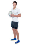 Full length portrait of a rugby player Royalty Free Stock Photo