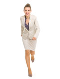 Full length portrait of running business woman Stock Image