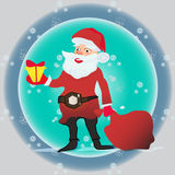 Full length portrait of a Santa Claus posing near bag gifts Stock Photography
