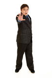 Full length portrait of scared young businessman Stock Image