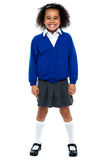 Full length portrait of a school girl Royalty Free Stock Photography
