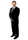 Full length portrait of a senior businessman Stock Images