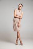 Full Length Portrait of Sexy Woman Fashion Dress Royalty Free Stock Photos