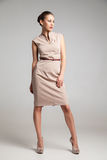 Full Length Portrait of Woman Fashion Dress Stock Photography