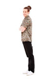 Full-length portrait of smiley man Royalty Free Stock Photo