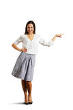 Full length portrait of smiley woman Stock Photography