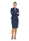 Full length portrait of smiling business woman Royalty Free Stock Photo