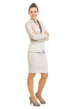 Full length portrait of smiling business woman Royalty Free Stock Image