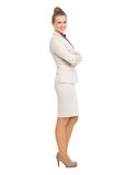 Full length portrait of smiling business woman Royalty Free Stock Images