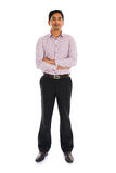 Full length portrait of smiling businessman standing Royalty Free Stock Images