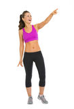 Full length portrait of smiling fitness woman Stock Photography