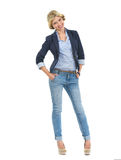 Full length portrait of smiling teenage girl Stock Image