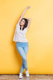 Full length portrait of a stylish woman Royalty Free Stock Photos