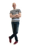 Full length portrait of a stylish young man Stock Images