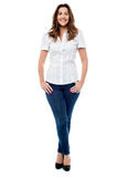 Full length portrait of stylish young woman Royalty Free Stock Photos