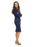 Full length portrait of successful business woman Stock Image