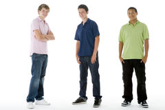 Full Length Portrait Of Teenage Boys Royalty Free Stock Photography