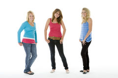 Full Length Portrait Of Teenagers Stock Photography