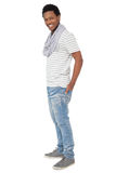 Full length portrait of a trendy young man royalty free stock image