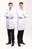 Full length portrait of two doctors Stock Photos