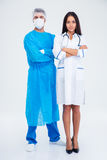 Full length portrait of a two medical workers Stock Photography