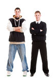Full-length portrait of two men Stock Image