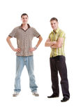 Full-length portrait of two young man Stock Images