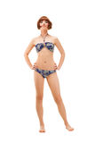 Full length portrait of a woman in bikini Royalty Free Stock Photography