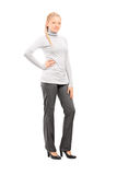 Full length portrait of a woman in casual clothes posing Stock Photography