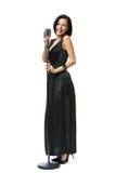 Full-length portrait of woman singer Royalty Free Stock Image