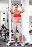 Full length portrait of a woman working out Stock Images