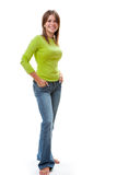 Full length portrait of woman. Royalty Free Stock Photos
