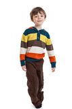 Full length portrait of a 6 year old boy Royalty Free Stock Photos