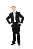 Full length portrait of a young businessman  Royalty Free Stock Images