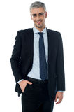 Full length portrait of a young businessman standing Stock Photos